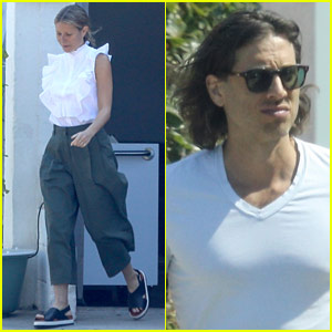 Gwyneth Paltrow & Brad Falchuk Have a Meeting in Santa Monica