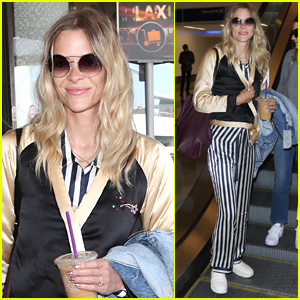 Jaime King Jets Home From New York Fashion Week