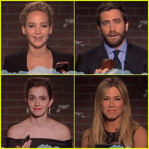 Jennifer Lawrence, Emma Watson, Jennifer Aniston & More Celebs Read Mean Tweets - Watch Now!