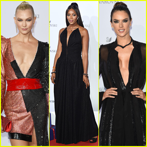 Karlie Kloss, Naomi Campbell, & Alessandra Ambrosio Sparkle at Swarovski Wonderland Party