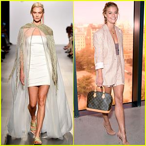 Karlie Kloss & Nina Agdal Continue Fashion Fun During NYFW!