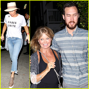 Kate Hudson Grabs Dinner with Her Mom & Boyfriend