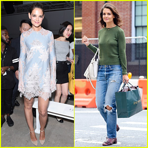 Katie Holmes is Lovely in Lace at Lanyu Fashion Show