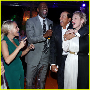 Kristin Chenoweth Sings with Sharon Stone & Friends to Kick Off Celebrity Fight Night in Rome