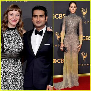 Kumail Nanjiani & Wife Emily V. Gordon Couple Up for Emmys 2017