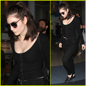 Lorde Keeps Her Head Low for