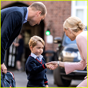 Prince George Arrives for First Day of School (Photos & Video!)