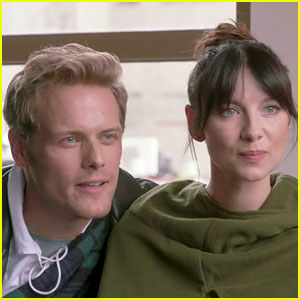 Outlander's Sam Heughan & Caitriona Balfe Go to Couple's Therapy as Jamie & Claire - Watch Now!