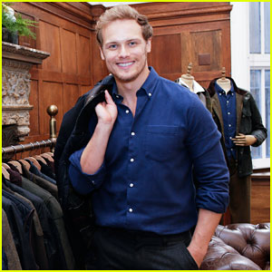Sam Heughan Launches Barbour Signature Collection In NYC!