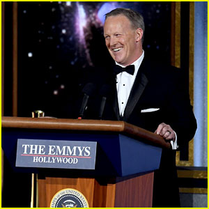 Sean Spicer Makes Surprise Appearance at Emmys 2017! (Video)