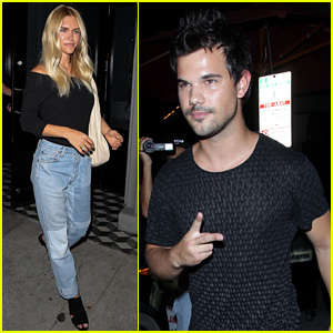 Taylor Lautner Dines Out With Fashion Blogger Lauren Scruggs