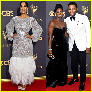 Tracee Ellis Ross Dazzles in Silver Chanel Haute Couture at Emmys 2017