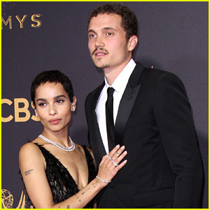 Zoe Kravitz & Boyfriend Karl Glusman Celebrate First Anniversary at Emmys 2017!