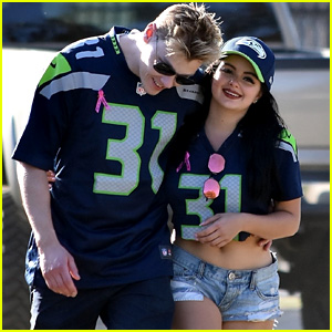 Ariel Winter & Boyfriend Levi Meaden Cheer on the Seahawks in Los Angeles!