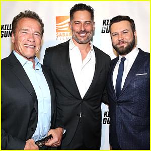 Arnold Schwarzenegger, Joe Manganiello, & Taran Killam Suit Up for 'Killing Gunther' Premiere