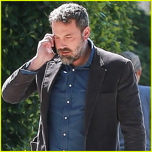 Ben Affleck Starts Off His Morning with a Meeting