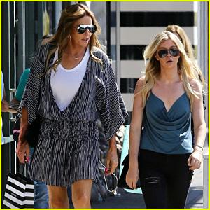 Caitlyn Jenner & Sophia Hutchins Go Makeup Shopping in Malibu