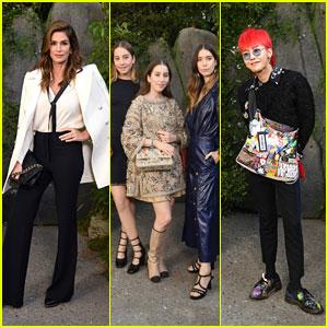 Cindy Crawford, HAIM & G-Dragon Attend Chanel Paris Fashion Week Show!