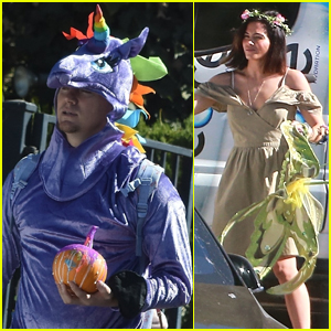Channing Tatum Dresses Up as a Unicorn for Costume Party with Wife Jenna!