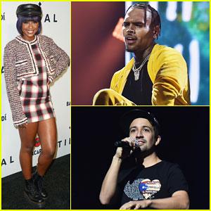 Chris Brown, Lin-Manuel Miranda & DJ Khaled Hit Stage at Tidal x Brooklyn Concert!