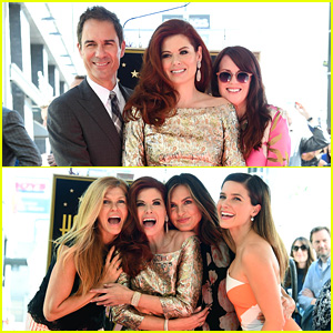 Debra Messing's 'Will & Grace' Co-Stars Support Her at Hollywood Walk of Fame Ceremony