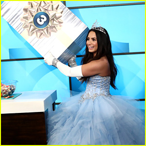 Demi Lovato Plays 'What's In The Box?' on 'Ellen' Dressed as a Princess - Watch Now!