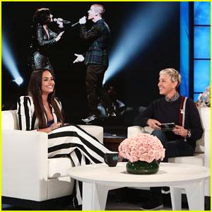 Demi Lovato Addresses Nick Jonas Romance Rumors on 'Ellen'!