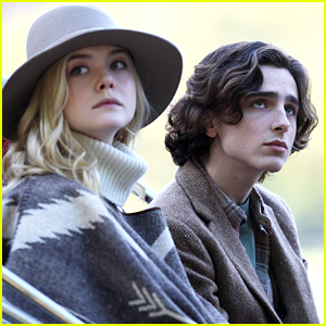 Elle Fanning & Timothee Chalamet Continue Filming Woody Allen's Upcoming Movie in NYC