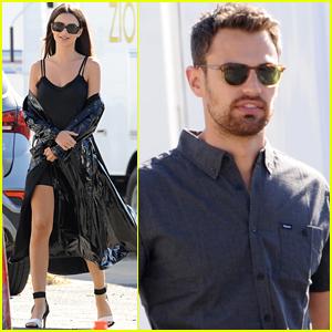 Emily Ratajkowski & Theo James Film 'Lying & Stealing' in LA