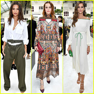 Emily Ratajkowski, Zoey Deutch, & Izabel Goulart Hit Up Valentino Presentation During Paris Fashion Week