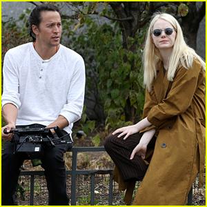 Emma Stone Chats with Director Cary Fukunaga on 'Maniac' Set
