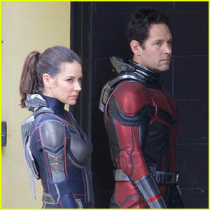 Paul Rudd & Evangeline Lilly Film 'Ant-Man & the Wasp' Together in Superhero Suits!