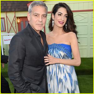 George & Amal Clooney Look Sharp at 'Suburbicon' Premiere in LA!
