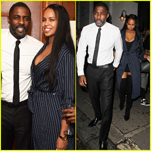 Idris Elba & Girlfriend Sabrina Dhowre Couple Up at International Day Of The Girl Gala!