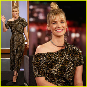 January Jones Reveals Father Was Her Gym Teacher In School on 'Jimmy Kimmel Live'!