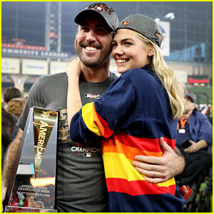 Kate Upton Supports Fiance Justin Verlander & the Houston Astros!