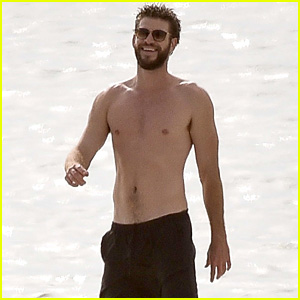 Liam Hemsworth Goes Shirtless on the Beach Where He Met Miley Cyrus!