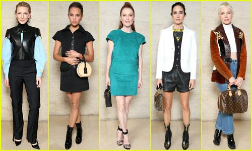 Cate Blanchett, Julianne Moore, Alicia Vikander & So Many More Stars Hit Up Louis Vuitton's Paris Show