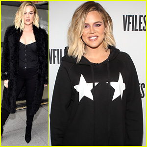 Pregnant Khloe Kardashian Covers Up Her Baby Bump at Good American Events