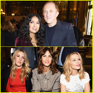 Salma Hayek, Ellie Goulding & Alexa Chung Sit Front Row at Stella McCartney Paris Show!