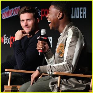 Scott Eastwood & John Boyega Talk 'Pacific Rim' at New York Comic Con