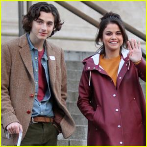 Selena Gomez & Timothee Chalamet Hit the Met While Filming Woody Allen Flick