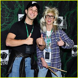 Skylar Astin & Anna Camp Channel 'Wayne's World' for Halloween