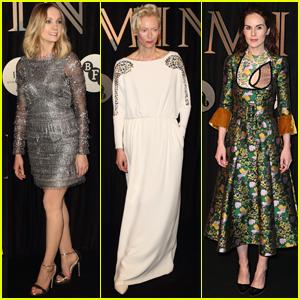 Tilda Swinton Joins Joanne Froggatt & Michelle Dockery at Luminous Gala in London