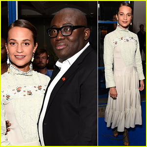 Alicia Vikander Celebrates Edward Enninful's New 'British Vogue'