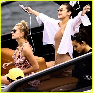 la Bella Hadid & Hailey Baldwin Vivo en Miami Paseo en Barco