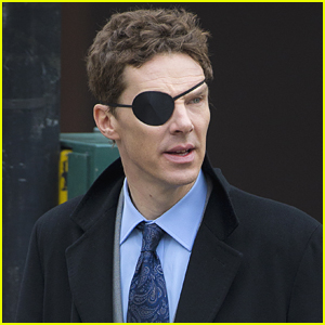 Benedict Cumberbatch Sports an Eye Patch on Set of 'Melrose'