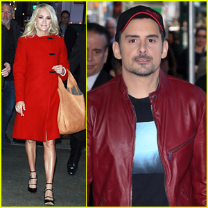 Carrie Underwood & Brad Paisley Step Out to Promote the Upcoming CMA Awards 2017!