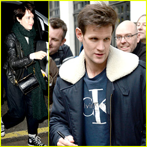 Claire Foy & Matt Smith Greet Fans While Doing 'The Crown' Promo