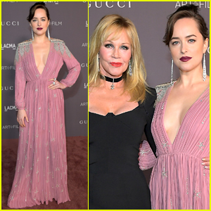 Dakota Johnson is Pretty in Pink for LACMA Gala 2017